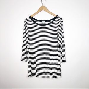 Susina Nordstrom Striped Black & White Long Sleeve
